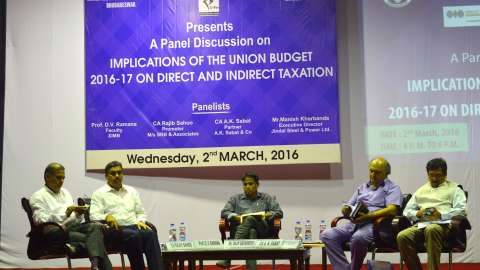 Panel discussion on Union Budget at first ever XIMB-XUB Budget Conclave