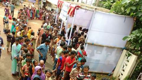 XIMB organizes a Street Store to experience the Joy of Giving