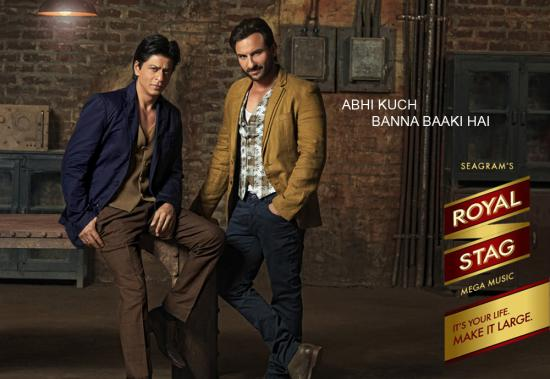 Saif Ali Khan and Shah Rukh Khan for Royal Stag